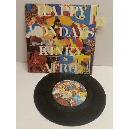"""HAPPY MONDAYS kinky afro 7"""" picture sleeve SINGLE FAC302"""