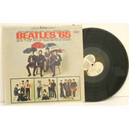 SOLD: THE BEATLES, Beatles '65, great new hits by John. Paul. George. Ringo.