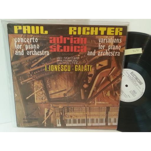 PAUL RICHTER, ADRIAN STOICA, I. IONESCU, GALATI concerto for piano and orchestra / variations for piano and orchestra, ST-ECE 03788