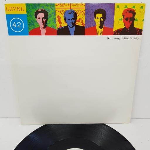 "LEVEL 42, running in the family (extended version), B side dream crazy + (7"" version), POSPX 842, 12"" single"