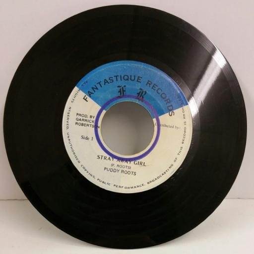 PUDDY ROOTS stray away girl, 7 inch single