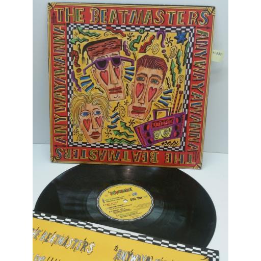 THE BEATMASTERS anywayyawanna, LEFT LP 10