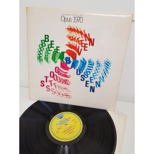 """KARLHEINZ STOCKHAUSEN, stockhausen—beethoven, pp. 1970 part 1, B side part 2 , 139 461, 12"""" single"""