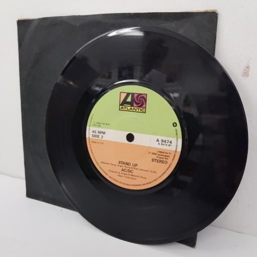 AC/DC, shake your foundations, B side stand up, A 9474, 7 inch single