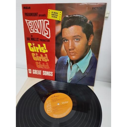 "ELVIS PRESLEY, girls! girls! girls!, SF7534, 12"" LP"