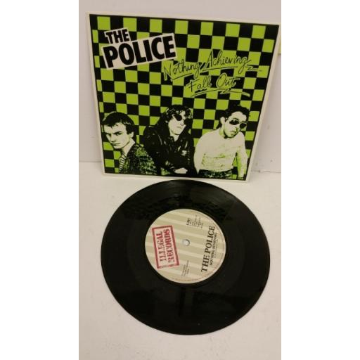 THE POLICE nothing achieving / fall out, 7 inch single, IL 001