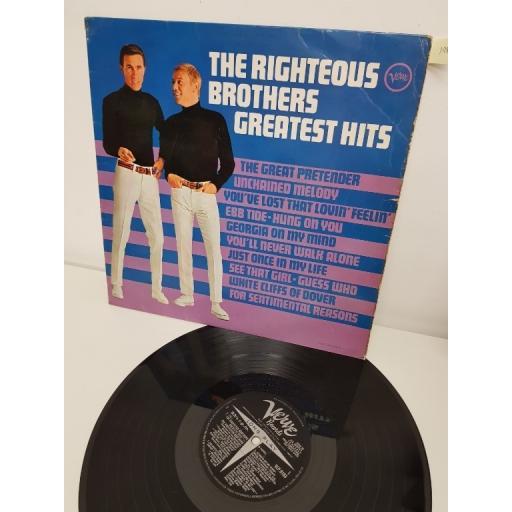 "THE RIGHTEOUS BROTHERS, the righteous brothers greatest hits, VLP 9183, 12"" LP"