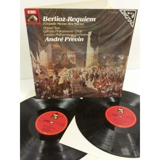 BERLIOZ, ANDRE PREVIN, ROBERT TEAR, LONDON PHILHARMONIC CHOIR, LONDON PHILHARMONIC ORCHESTRA requiem (grande messe des morts), 2 x lp, gatefold, SLS 5209