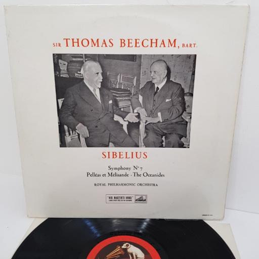 "Sibelius, Royal Philharmonic Orchestra, Sir Thomas Beecham – Symphony No. 7 / Pelléas Et Mélisande / The Oceanides, ALP 1480, 12"" LP, mono"