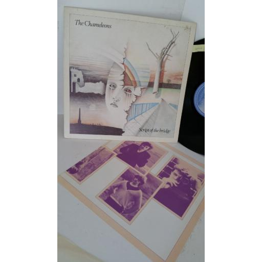 THE CHAMELEONS script of the bridge, picture insert, STAT LP 17