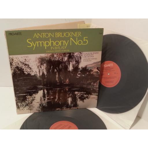 ANTON BRUCKNER / COLOGNE RADIO SYMPHONY ORCHESTRA, GUNTER WAND symphony no. 5 in b flat, gatefold, double album, 2PAL-2008