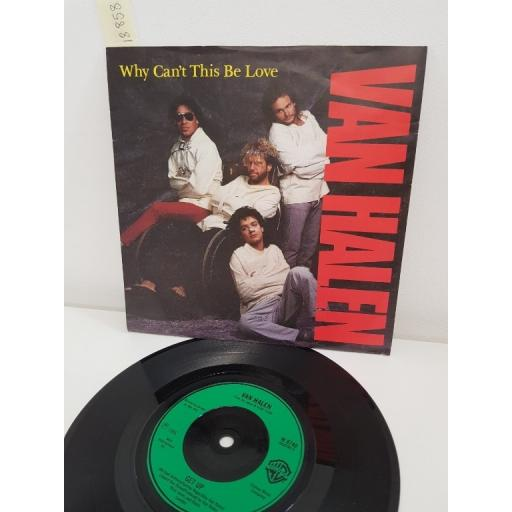 VAN HALEN, why can't this be love, side B get up, W 8740, 7'' single