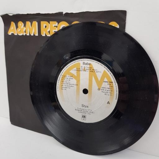 """STYX, babe, B side I'm o.k., AMS 7489, 7"""" single"""