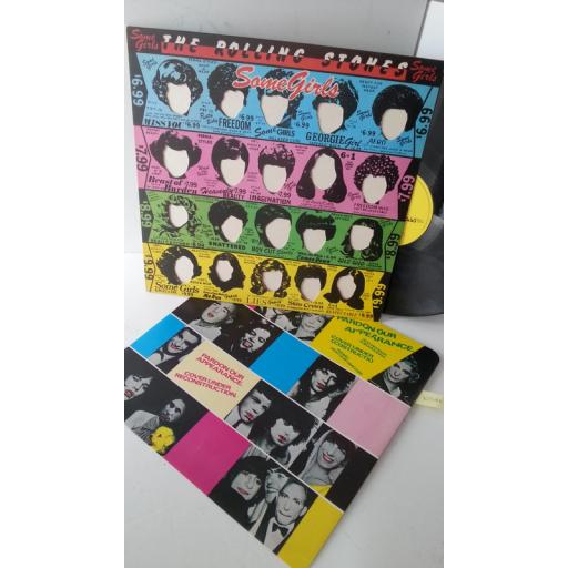 THE ROLLING STONES some girls, CUN 39108, die cut sleeve