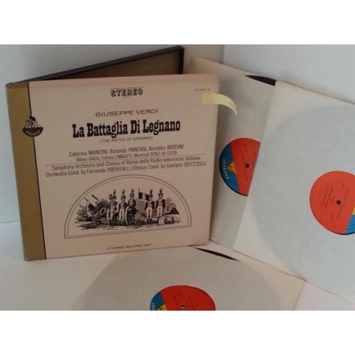 GIUSEPPE VERDI la battaglia di legnano, 3 x vinyl box set, S-431/ 3