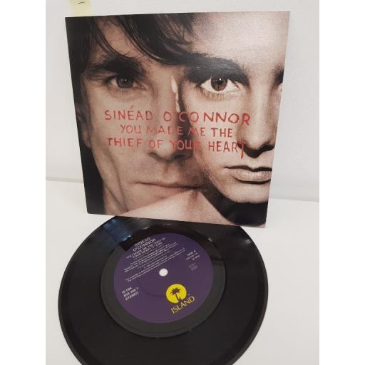 "SINEAD O'CONNOR, you made me the thief of your heart 7"" edit, B side the father and his wife the spirit, IS 588/858 346-7, 7"" single"
