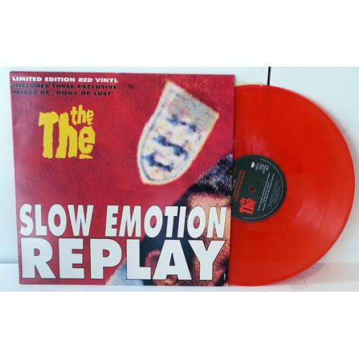 """THE THE slow emotion replay, 12"""" vinyl, limted edition red vinyl"""