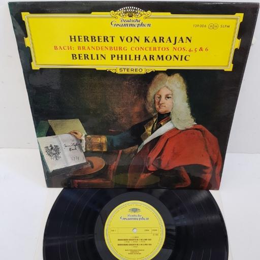 "Johann Sebastian Bach - Herbert Von Karajan, Berliner Philharmoniker – Brandenburgische Konzerte Nr. 4, 5 & 6, 139 006, 12"" LP"