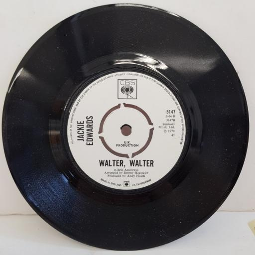 "JACKIE EDWARDS, tell me why you say goodbye, B side walter, walter, 5147, 7"" single, promo"