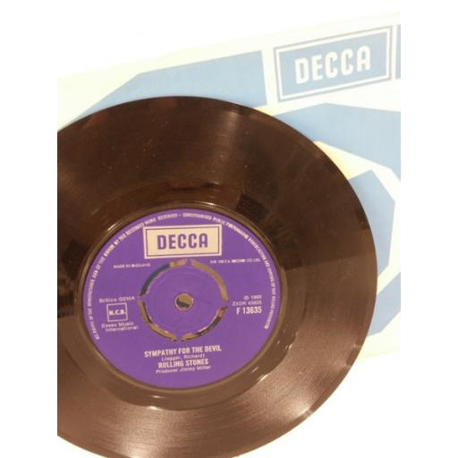 THE ROLLING STONES honky tonk woman, 7 inch single, push out centre, F 13635.
