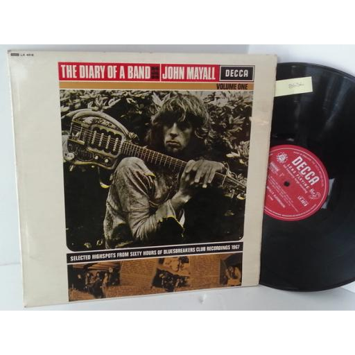 JOHN MAYALL the diary of a band volume one, LK 4918