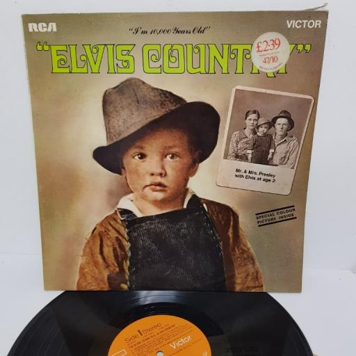 "ELVIS PRESLEY, elvis country (I'm 10,000 years old), SF 8172, 12"" LP"
