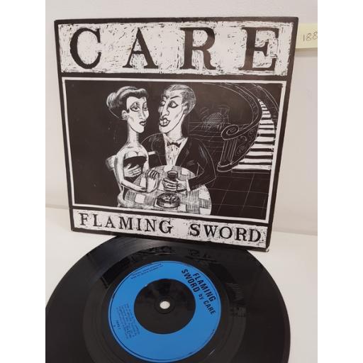 CARE, flaming sword, side B misericorde, KBIRD 2, 7'' single