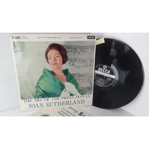 JOAN SUTHERLAND the art of the prima donna, SXL 2256
