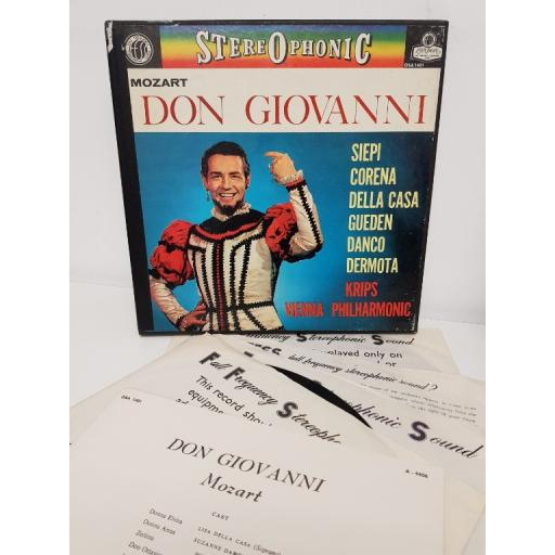 MOZART DON GIOVANNI LONDON FFSS BOX SET OSA 1401, 4x12'' LP, Box