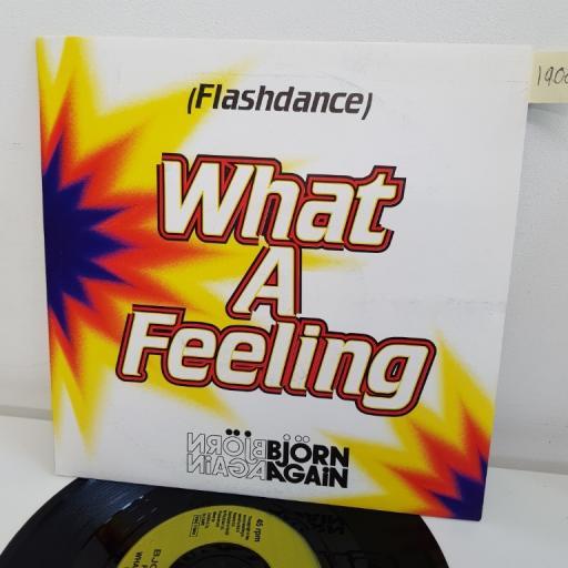 "BJORN AGAIN, flashdance...what a feeling, B side is it right?, MAGS 50, 7"" single"