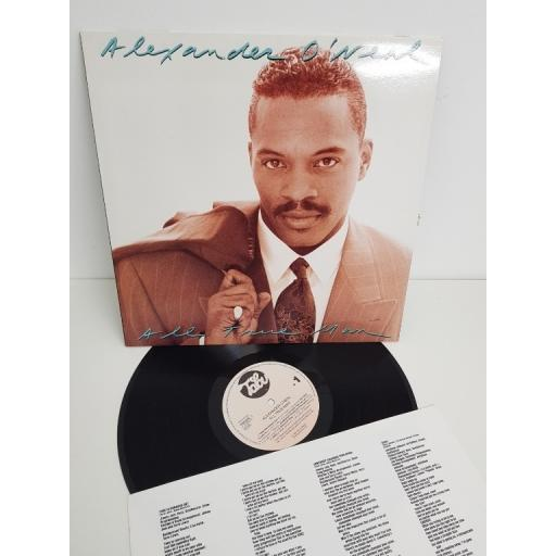 "ALEXANDER O'NEAL, all true man, 465882-1, 12"" LP"