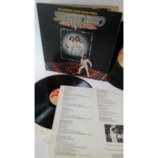 BEEGEES, WALTER MURPHY, KOOL & THE GANG saturday night fever the original movie sound track, gatefold, 2 x lp, 2658 123, track list insert