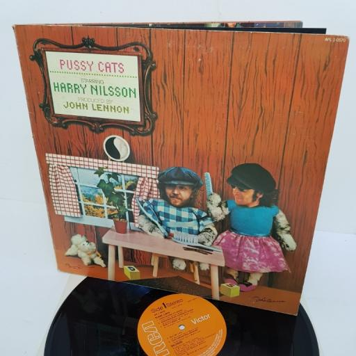 "HARRY NILSSON, pussy cats, APL1 0570, 12"" LP"