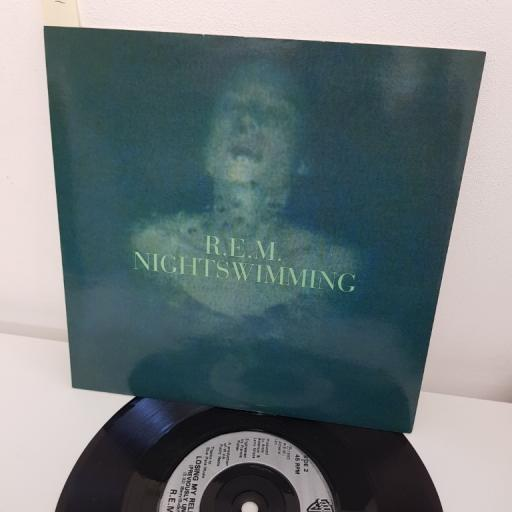"R.E.M., nightswimming, B side losing my religion live , W 0184, 7"" single"