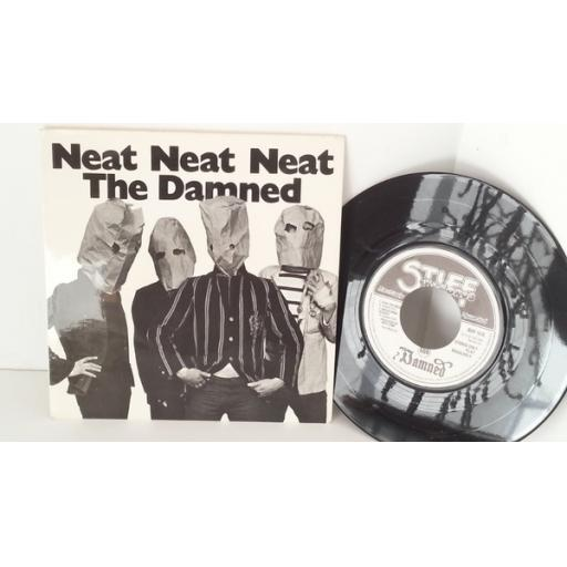 SOLD THE DAMNED neat neat neat, PICTURE SLEEVE 7 inch single, BUY 10