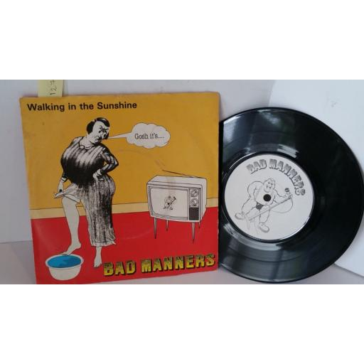 BAD MANNERS walking in the sunshine, 7 inch single, MAG 197