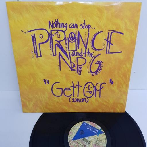 "PRINCE AND THE NEW POWER GENERATION, gett off urge mix , B side thrust mix , W 0056, 12"" single"