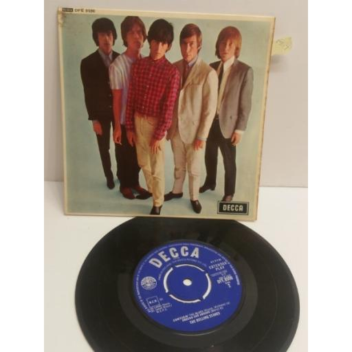 "THE ROLLING STONES five by five 5 TRACK PICTURE SLEEVE 7"" EP DFE8590"