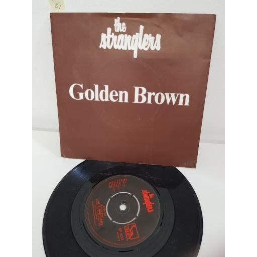 THE STRANGLERS, golden brown, side B love 30, BP 407, PICTURE SLEEVE, 7'' single