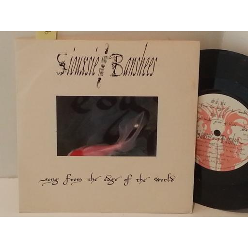 "SIOUXSIE AND THE BANSHEES song from the edge of the world, SHE 13, 7"" single"