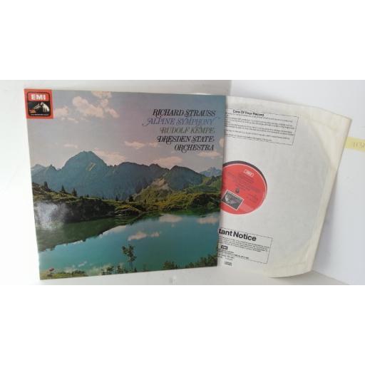 RICHARD STRAUSS, RUDOLF KEMPE, DRESDEN STATE ORCHESTRA alpine symphony, ASD 3172