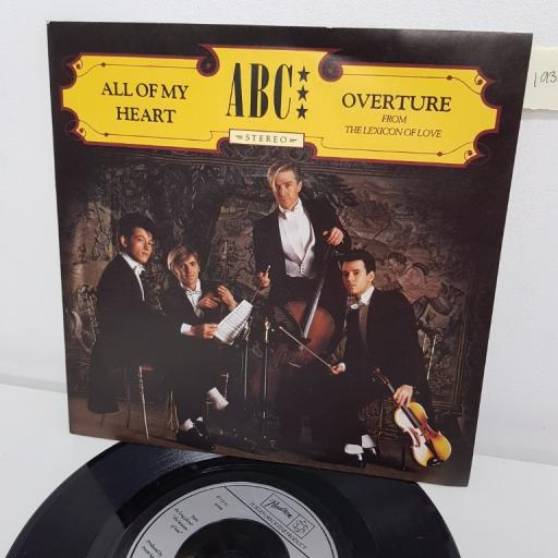 "ABC, all of my heart, B side overture, NT 104, 7"" single"