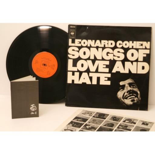 SOLD LEONARD COHEN, Songs of love and hate. WITH RARE BOOKLET. Great copy. Very ra...