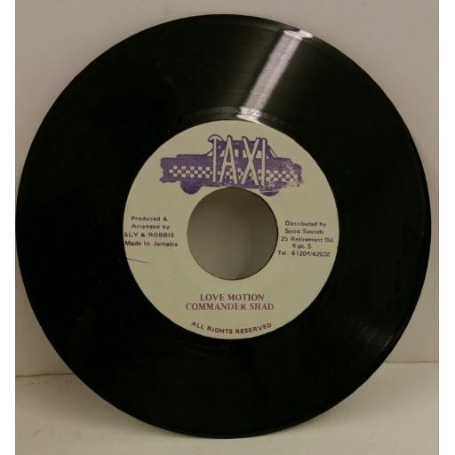 COMMANDER SHAD love motion, 7 inch single