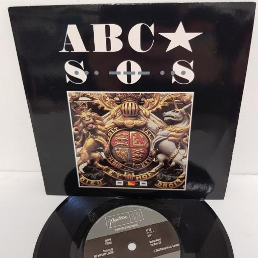 "ABC, s.o.s., B side united kingdom, NT 106, 7"" single"