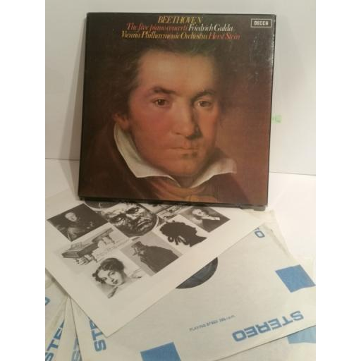 Beethoven, Friedrich Gulda, Horst Stein. The Five Piano Concerti. Decca Stereo SDDE 304/7