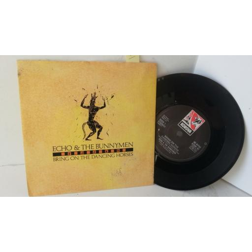 ECHO AND THE BUNNYMEN bring on the dancing horses, 7 inch single, KOW 43