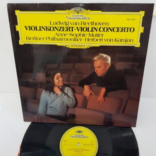 "Anne-Sophie Mutter, Berliner Philharmoniker • Herbert von Karajan, Ludwig van Beethoven – Violinkonzert • Violin Concerto, 2531 250, 12"" LP"