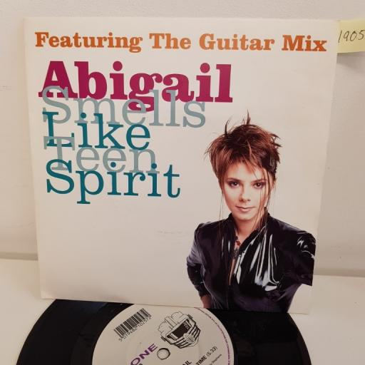 """ABIGAIL - smells like teen spirit the guitar mix, B side stop the hands of time, KLONES 25, 7"""" single"""
