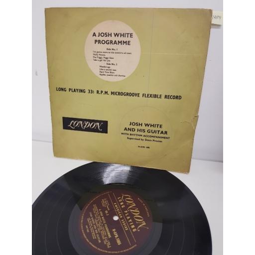 """JOSH WHITE, a josh white programme, H-APB 1005, 10"""" LP"""